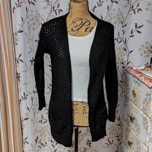 Love By Design Black Cardigan. Size: XS